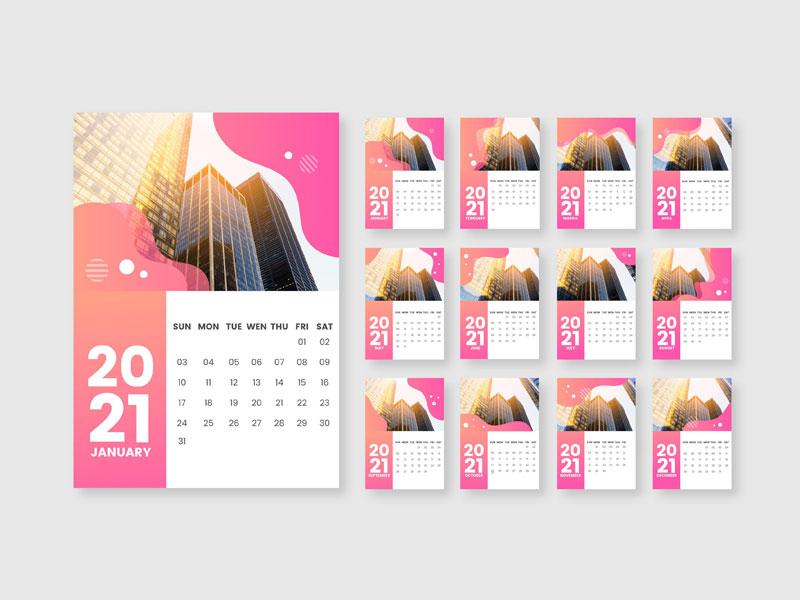 Calendarios personalizados 2021 para tu empresa